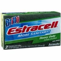 Brillo Estracell 4.5 In. x 2.75 In. Heavy Duty Sponge (2-Count) 21021