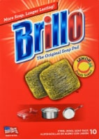 Brillo Steel Wool Lemon Scented Soap Pads - Yellow