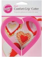 Wilton Comfort Grip Heart Cookie Cutter - Pink - 1 Count