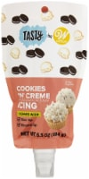 Tasty By Wilton Icing Decorating Pouch With Tips 6.5oz-Cookies 'n Creme - 1