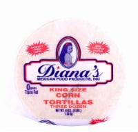 Diana's King Size Three Dozen White Corn Tortillas
