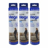 evercare Pet Mega Extreme Surface Coverage 50 Layer Lint Roller Refill, 6 Pack