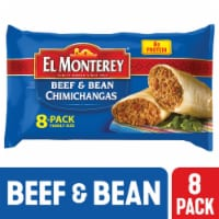 El Monterey Beef & Bean Chimichangas 8 Count