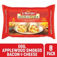 El Monterey Egg Applewood Smoked Bacon & Cheese Burritos 8 Count