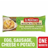 El Monterey Signature Egg Sausage Cheese & Potato Burrito