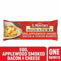 El Monterey Egg Applewood Smoked Bacon & Cheese Breakfast Burrito
