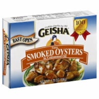 Geisha Fancy Smoked Oysters in Cottonseed Oil