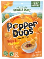 Harvest Snaps Popper Duos Salsa & Cheddar Green Pea Crisps