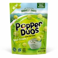 Harvest Snaps Popper Duos Sour Cream & Onion Green Pea Crisps