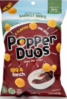 Harvest Snaps Popper Duos BBQ & Ranch Green Pea Crisps