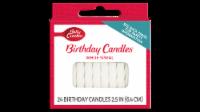 Betty Crocker White Spiral Birthday Candles