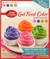Betty Crocker Neon Gel Food Colors 4 Count