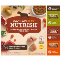 Rachael Ray Nutrish Natural Healthy Recipes Wet Dog Food Variety Pack