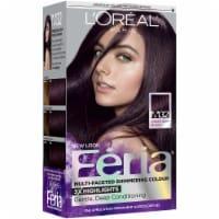 L'Oreal Feria Shimmering Violet Soft Black M32 Hair Color