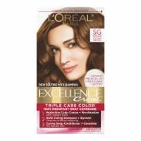 L'Oreal Paris Excellence Creme 5G Medium Golden Brown Hair Color Kit