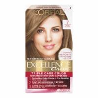 L'Oreal Paris Excellence Creme 7 Dark Blonde Triple Protection Permanent Hair Color Kit