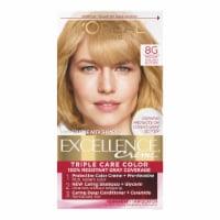 L'Oreal Paris Excellence Creme 8G Medium Golden Blonde Triple Protection Permanent Hair Color Kit