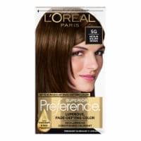 L'Oreal Paris Superior Preference Warmer Medium Golden Brown 5G Permanent Hair Color - 1 ct