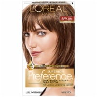 L'Oreal Paris Superior Preference Permanent Hair Color Kit - 6AM Light Amber Brown - 1 ct