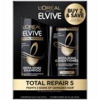 L'Oreal Paris Elvive Total Repair 5 Shampoo + Conditioner Value Pack