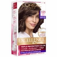 L'Oreal Paris Excellence Creme 4.5N Dark Neutral Brown Triple Protection Permanent Hair Color Kit