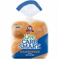 Aunt Millie's Live Carb Smart Hamburger Buns - 8 ct / 14 oz