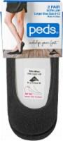 Peds Women's Ultra Low-Cut Liner Socks - 2 Pack - Black