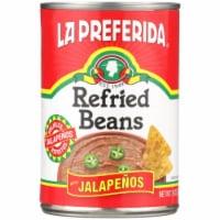 La Preferida Refried Beans with Jalapenos - 16 oz