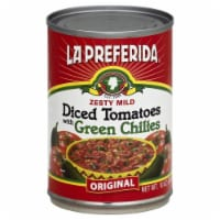 La Preferida Zesty Mild Diced Tomatoes with Green Chiles - 10 oz