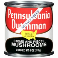 Pennsylvania Dutchman No Salt Added Mushroom Stems and Pieces - 4 oz