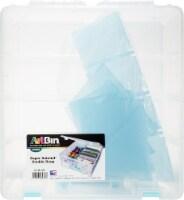 ArtBin Super Satchel Double Deep Clr/Aqua Dividers - 1