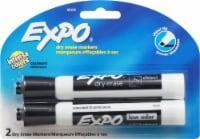 Expo Chisel Tip Bold Color Dry Erase Marker 2 Pack - Black