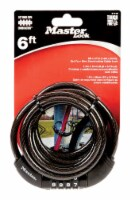 Master Lock 5/16 in. W x 6 ft. L Vinyl Covered Steel 4-Dial Combination Locking Cable 1 pk - - Count of: 1