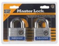 Master Lock® Laminated Steel 4-Pin Cylinder Padlock - 2 pk