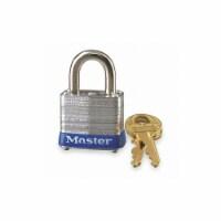 Master Lock Keyed Padlock, 1/2 in,Rectangle,Silver HAWA