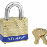 Master Lock Keyed Padlock, 5/8 in,Rectangle,Gold HAWA 4KA-3202