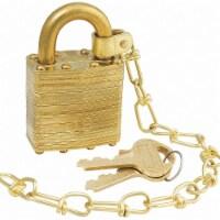 Master Lock Keyed Padlock, 3/4 in,Rectangle,Gold HAWA 6002NSBCUS