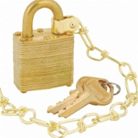 Master Lock Keyed Padlock, 5/8 in,Rectangle,Gold,PK5 HAWA 6004NKAS5SBCUSS1KEY2KS