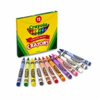 Crayola Non-Toxic Crayon In Tuck Box - 0.31 x 3.63 in. - Pack 12 - 1