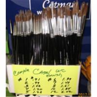 Crayola 102115 1121 Round Natural Camel Hair Polished Wood Handle Watercolor Paint Brush, Siz