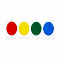Jumbo Washable Watercolor Paint Refill Strip Set, Plastic Oversized Pan, 4 Colors - 1