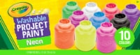 Crayola® Washable Neon Project Paint - 10 pk