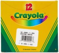 Crayola Bulk Crayons - White - 12 / Box - 1