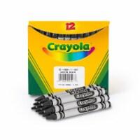 Crayola Bulk Crayons, Black, 12/Box 520836051 - 1