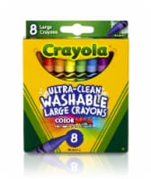 Crayola® Color Max™ Ultra-Clean Large Washable Crayons - 8 pk