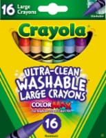 Crayola Ultra-Clean Washable Large Crayons - 16 Piece