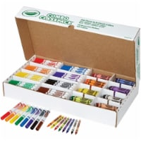 Crayons and Markers Combo Classpack, Eight Colors, 256/Set 52-3349