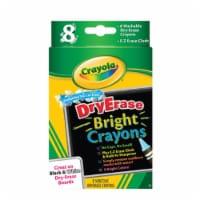 Crayola Washable Dry-Erase Crayons-Bright 8/Pkg - 1
