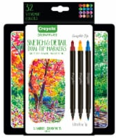 Crayola Signature Sketch and Detail Dual-Tip Markers - 16 pk
