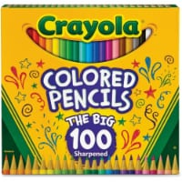 Binney & Smith CYO688100 Colored Pencils, Assorted - Count 100 - 1